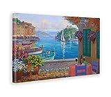 Giallobus - Quadro - Stampa su Tela Canvas Mikki SENKARIK - Quadro con Paesaggio Portofino Reflections - Quadri Moderni di Tela - Vari Formati - 100 x 140 CM