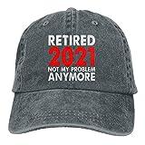 Bradioni Retirado 2021 Not My Problem Anymore HatVintage Retirement Gorra ajustable de algodón Washad Gorra de béisbol para papá