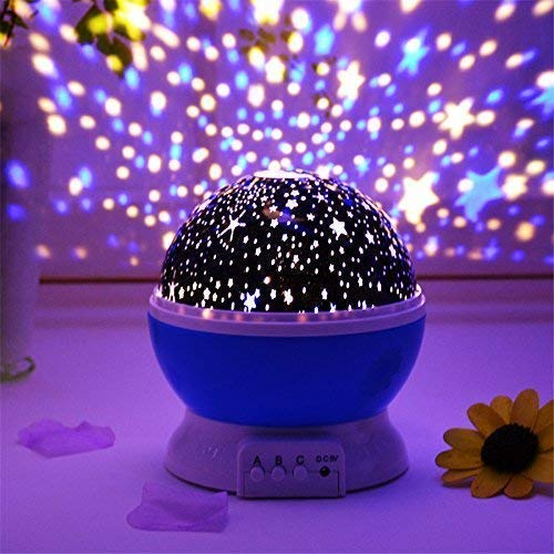 HZ Plastic Lamp Star Projector,Usb Cable,Operating Manual(Multicolor,Pack of 1)