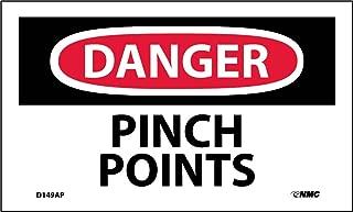 danger pinch point stickers
