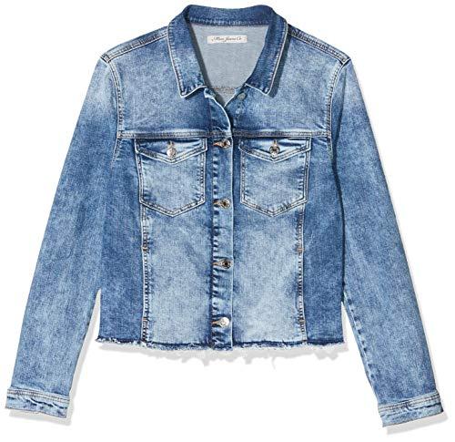 Mavi Damen Candy Jeansjacke, Blau (Back Fancy Embroidery Denim 23997), Large