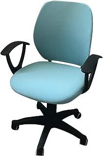 Funda para silla de oficina elástica para ordenador con respaldo y asiento protector, funda universal para silla de oficina silla de oficina silla ejecutiva giratoria silla giratoria (azul claro)