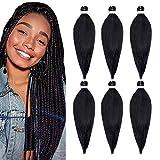 Pré-étiré Tressage Extension de Cheveux 26 Pouces 6 Paquets/Lot Tresse Libre Démangeaisons Faible Eau Paramètre Synthétique Fiber Yaki Texture Crochet Ombre Tressage