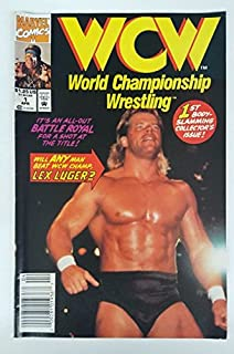 WCW World Championship Wrestling #1 Comic Book - Newsstand Edition - Lex Luger Cover - WWE NWO