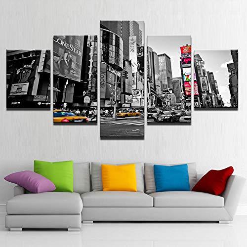 Lienzo artístico para pared, póster con impresiones en HD, decoración del hogar, imágenes Retro, 5 piezas, pintura d