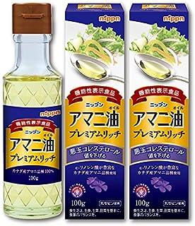ニップン 機能性表示食品アマニ油プレミアムリッチ(オメガ3高含有)100g(瓶)×3本セット