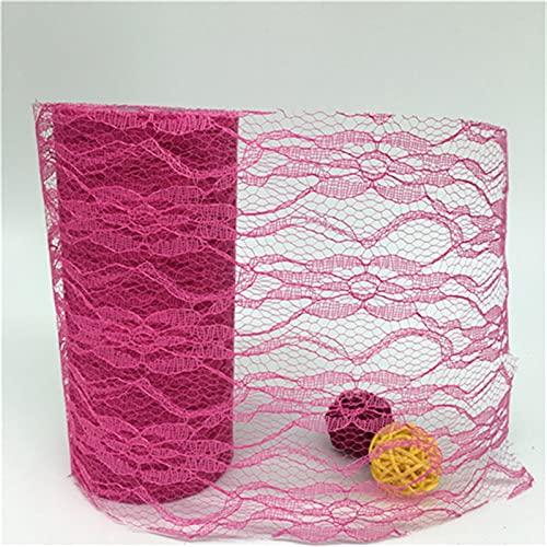 HLIAN 15 cm 10 Yards Tulle Roll Thole Lace Roll Teléfono de la Red for la Falda de Tutu for la Silla de la Boda de la Fiesta Mesa de Arco (Color : NA16 Deep Rose, Size : Gratis)