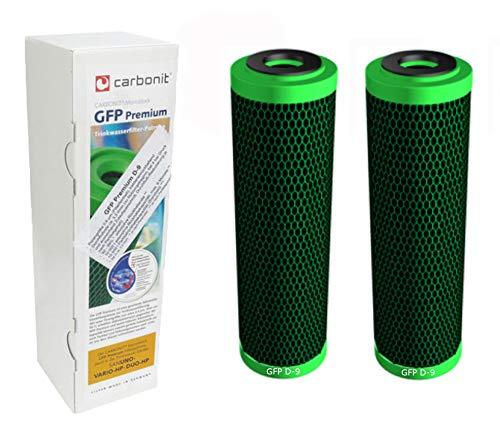Carbonit 2 x GFP Premium D-9 (höherer Durchfluss) Wasserfilter Sanuno Vario-HP