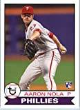 2016 Topps Archives #193 Aaron Nola Philadelphia Phillies RC Baseball Rookie Card. rookie card picture