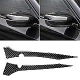 MyEstore Accessori Esterni Car Grande 2 Carbon Fiber PCS Car Specchio retrovisore Striscia Adesivo Decorativo for BMW G30 (2018-2019) / G11 (2016-2019), con Guida a Destra con la Macchina Fotografica