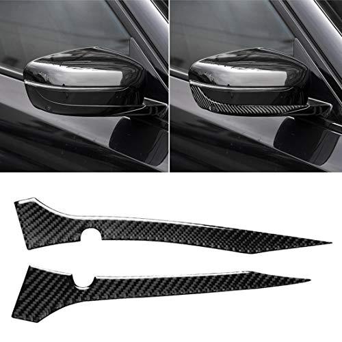 Tanhefa Las nuevas 2 PC del coche de fibra de carbono Espejo retrovisor parachoques de Gaza adhesivo decorativo for BMW G30 (2018-2019) / G11 (2016-2019), con el volante a la derecha de la cámara