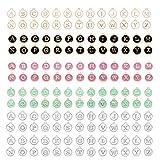 Ornaland 156 colgantes de letras para pulseras, pendientes, tobilleras, de aleación, letras para collares, Metal,