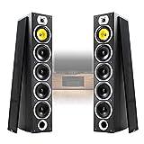 Fenton Pair of Floor Standing HiFi Speakers Tower Columns Home Stereo Audio 600w