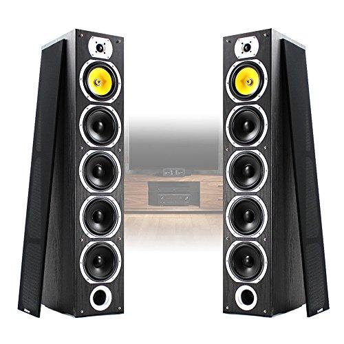 Fenton Pair of Floor Standing HiFi Speakers Tower Columns Home Stereo Audio...
