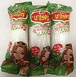 Kaset Brand Thai Bean Thread Glass Noodles - 8.46 oz (2.82 oz x 3 Sachets) From Thailand by Kaset