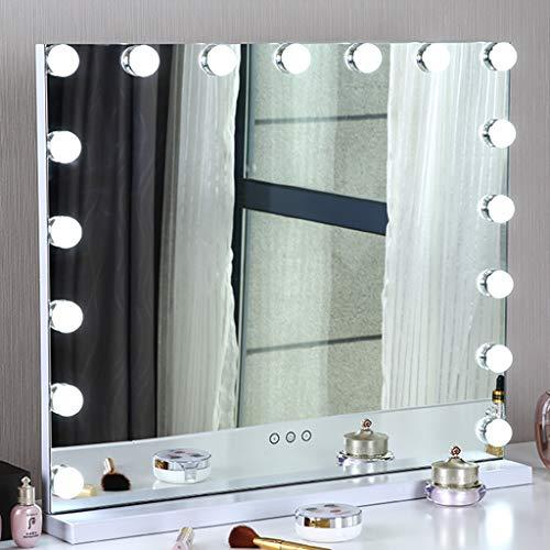Ziziqw Espejo de baño con Luces LED, Hollywood Espejo Facial niñas aplicables,...