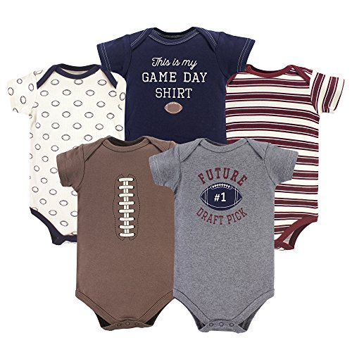 Hudson Baby Unisex Cotton Bodysuits, Football, 18-24 Months