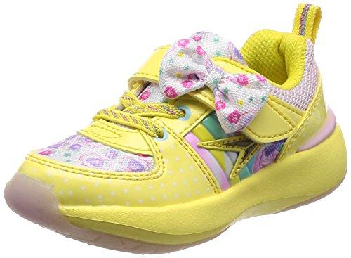 [シュンソク] 運動靴 レモンパイ SYUNSOKU Cream 15cm~23cm 1.5E キッズ 女の子 LEC 5290 イエロー 19 cm