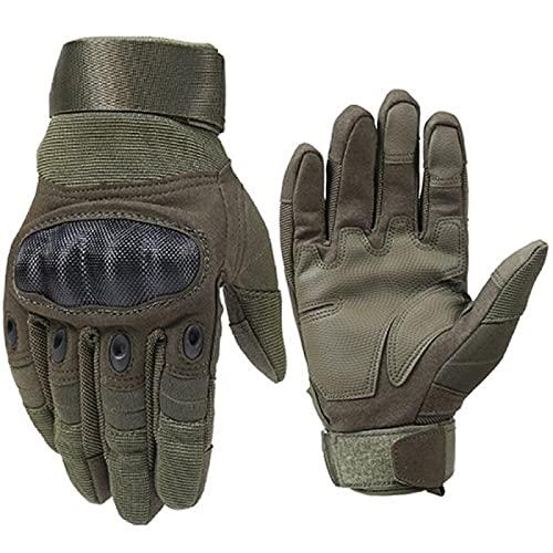 JCYANG Guantes Moto 1 par Guantes de Motocicleta Transpirable Unisex Unisex Full Finger Glove Moda al Aire Libre Racing Sport Glove Motocross Guantes de protección (Color : Army Green, Size : XL)
