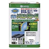 カンペハピオ 水性シリコン外かべ用 つや消し白 14L