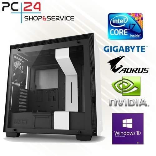 PC24 Shop & Service GAMER PC INTEL CORE i7-4770K - GTX 770 - Ordenador de sobremesa (Intel core i7-5770K, 4 x 4.2 GHz, 2 GB GDDR5 RAM, 16 GB DDE3 PC1600, Windows 7), blanco [Importado]