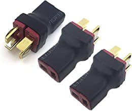 JFtech No Wire RC Deans T Series Connector 1 Female to 2 Male T Plug in Series Power connector Adapter for RC Quadcopter M...