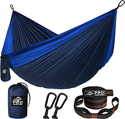 Pro Venture Camping Hammock - Double or Single Hammocks with Tree Straps - 2 Person Large Portable...