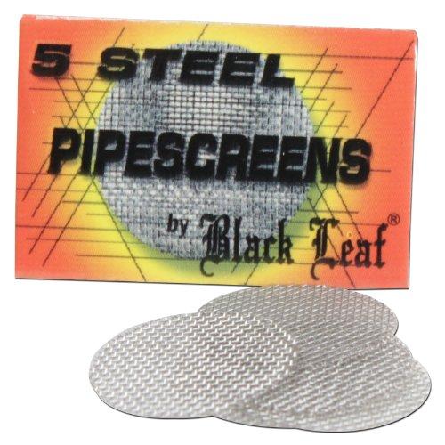 Black Leaf 100 Stahlsiebe D 20mm (20x5er Heftchen) Einlegesiebe PFeifensiebe