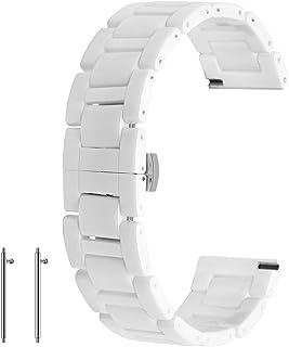Correa de reloj de cerámica de liberación rápida de 20 mm 22 mm correa de reloj de despliegue de cierre pulsera para mujer...