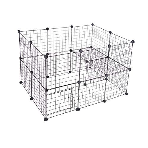 EUGAD DIY Freigehege Laufstall Laufgitter Welpenauslauf Katze Kaninchen Hasen Hamster Welpe und Meerschweinchen 0003WL