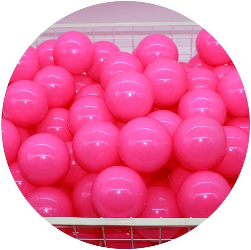 LIUFS-Barandilla Infantil Bola Oceánica Engrosada para Niños 5.5cm / 7cm / 8cm Parque De Atracciones Bola De Color Bola De Juguete Rosa Pop Ball Piscina Princesa Decoración De La Habitación