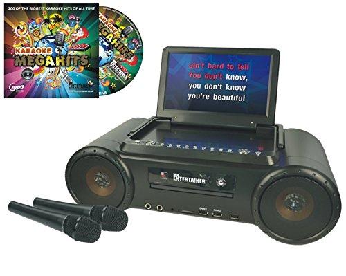 Mr Entertainer Partybox portátil DVD/CD/CDG/mp3g Karaoke máquina con...