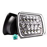 MICTUNING 2Pcs 5x7 7x6 Led Headlights Rectangular Hi Lo Led Sealed Beam H6054 6053 6052 5054 Square Headlamp Replacement for Jeep Wrangler YJ XJ MJ Cherokee Chevy S10 Blazer Express Ford GMC