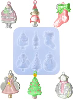VERWIN Epoxy Mold for Making Christmas Ornament DIY Pendant Jewelry Silicone Mold Resin Casting Mold for Keychain Angel Sn...