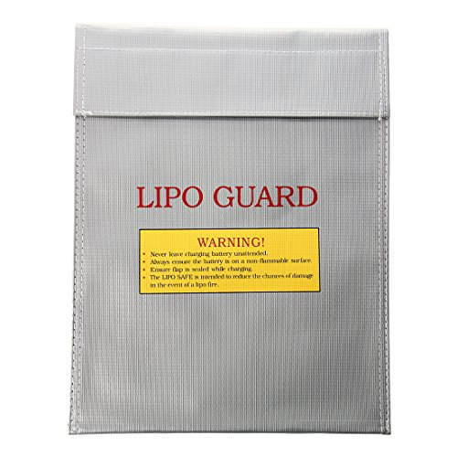 TOOGOO(R) Saco de carga Bolsa segura guardia de seguridad a prueba de fuego de bateria Li Po RC 23x30cm