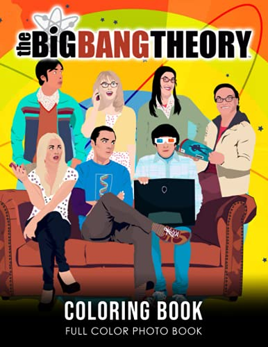 """the Big Bang Theory Coloring Book: Sitcom TV Series Character Coloring Book For Adults Creativity Gift 8.5 X 11"""" 20 Unique Fantasy Coloring Pages in ... Black Line Art Relaxing Gift for Adults Kids"""