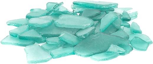 Sea Glass | Aqua Blue Colored Sea Glass Mix | 22 Ounces of Sea Glass for Decoration and Craft | Plus Free Nautical eBook by Joseph Rains
