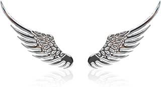 Alloy Metal Car Decoration 3D Angel Wings Window Bumper Body Badge Emblem Sticker Decal for Ford for Toyota for Nissan Vw Kia