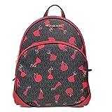 MICHAEL Michael Kors Medium Abbey Barcelona Backpack Black/Red