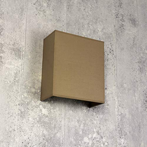 Eckige Wandlampe Stoff Schirm Creme Loft Design E27 Wandleuchte Wohnzimmer Flur