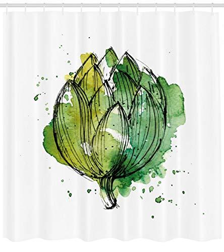 123456789 Cortina de Ducha de alcachofa Impresión de cardúnculo Abstracto para baño