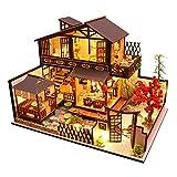 Generic Creative DIY Dollhouse Kit Meubles Chinois Style Chalet en Bois Modèle avec Ornements Jouet