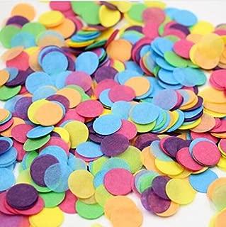 Since 600pieces 2 Inch Pastel Confetti for Wedding Table Decoration Party Favor Push Pop Confetti (Pink Blue Orange)