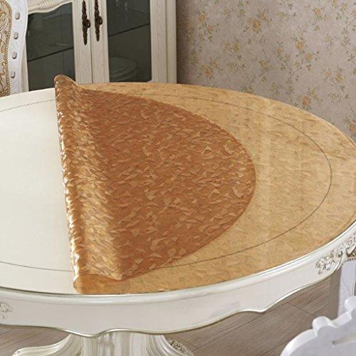 *linge de cuisine Tissu de table transparent, paillis à l'éponge Matière ronde imperméable à l'huile Tapis à café anti chocolat Table basse ( taille : Round/100cm )