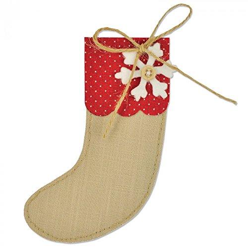 Sizzix Fustella Bigz Palle di Natale Calza in Stile Retro, ABS Plastic, Multicolore