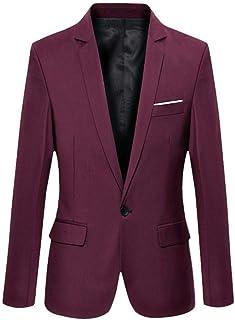 Loeay Men's Blazer Wedding Groom Tuxedos Groomsman Hight Quality Mens Blazers Jacket One Button Suits Blazer Jackets