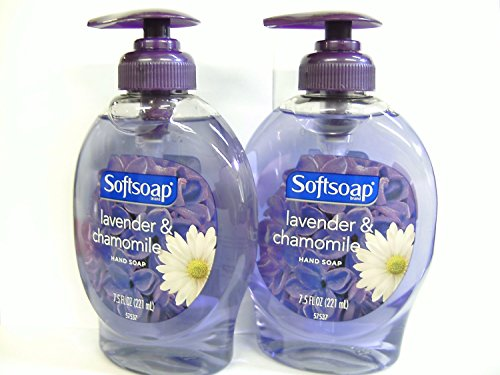 Softsoap Liquid Hand Soap 7.5 Oz Lavender & Chamomile Soothing Scent Pump Dispenser, Pack of 2