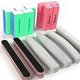 Shelloloh Kit 30pcs Lima Professionale Kit Lima per Unghie Kit 5pcs Buffer Block Kit 5pcs Lucidante