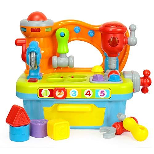 Lihgfw Multifunktionale Werkzeugtisch Kleine Welt Lernen Haus Nuss Kombination Demontage und Montage Jungen Kinder Pädagogisches Spielzeug (Color : Multi-Colored)