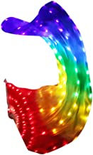 Becobe Rainbow Led Dance Fans with LED Lights Belly Dance Prop Stage Activitie Tools